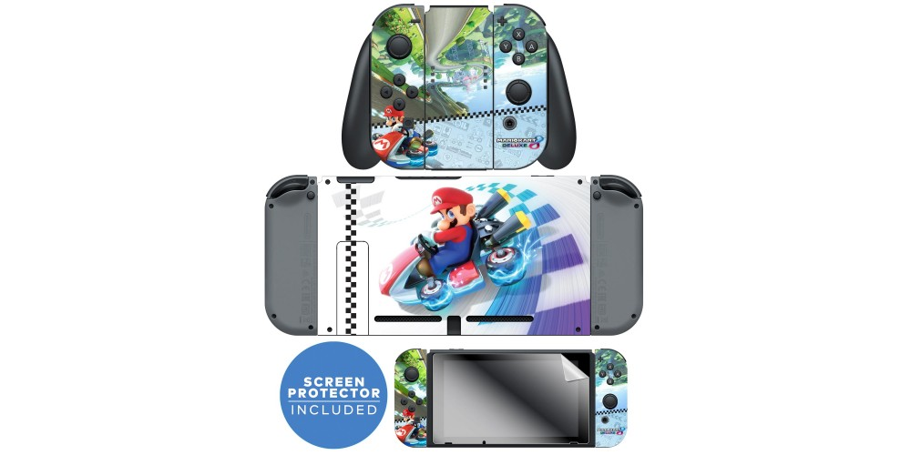 Nintendo Switch™ Skin & Screen Protector Set Officially Licensed by  Nintendo - Super Mario™ Kart 8: