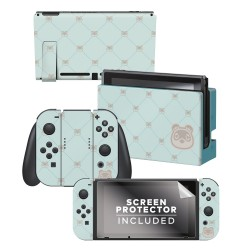 Animal Crossing: New Horizons - Tom Nook Quilted - Nintendo Switch Skin Bundle