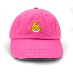 Animal Crossing Curved Bill Hat (Isabelle Pink)