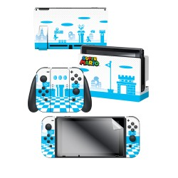 "Super Mario™ ""Mushroom Kingdom"" Nintendo Switch™ Console skin + Dock Skin + Joy-Con™ skin +  Joy-Con™ Grip Skin + Screen Protector Bundle Assortment, Officially Licensed by Nintendo"
