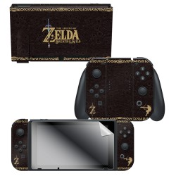 "The Legend of Zelda™ Breath of the Wild ""Link Tribal"" Nintendo Switch™ Console Skin + Joy-Con™ Skin + Joy-Con™ Grip Skin + Screen Protector Bundle Assortment, Officially Licensed by Nintendo"
