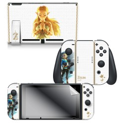 "The Legend of Zelda™ Breath of the Wild ""Princess Zelda"" Nintendo Switch™ Console Skin + Joy-Con™ Skin + Joy-Con™ Grip Skin + Screen Protector Bundle Assortment, Officially Licensed by Nintendo"