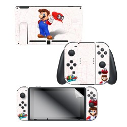 "Super Mario Odyssey™ ""Mario Map"" Nintendo Switch™ Console skin + Joy-Con™ skin + Joy-Con™ Grip Skin + Screen Protector set, Officially Licensed by Nintendo"