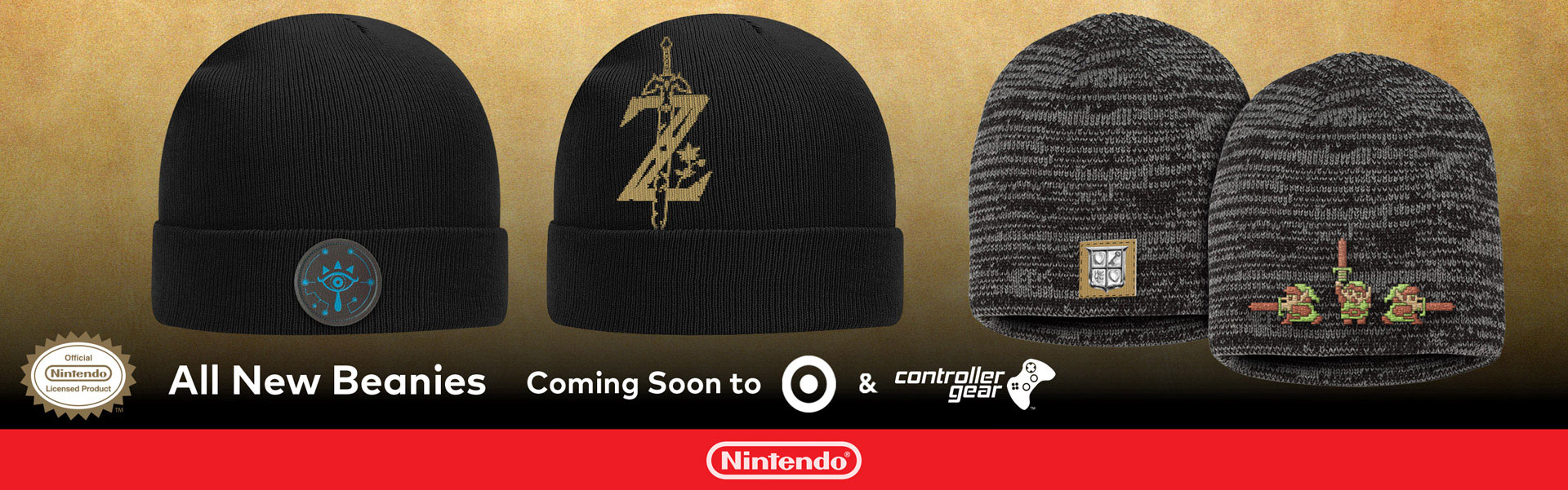 Knit Caps by Controller Gear Licensed by Nintendo at Target