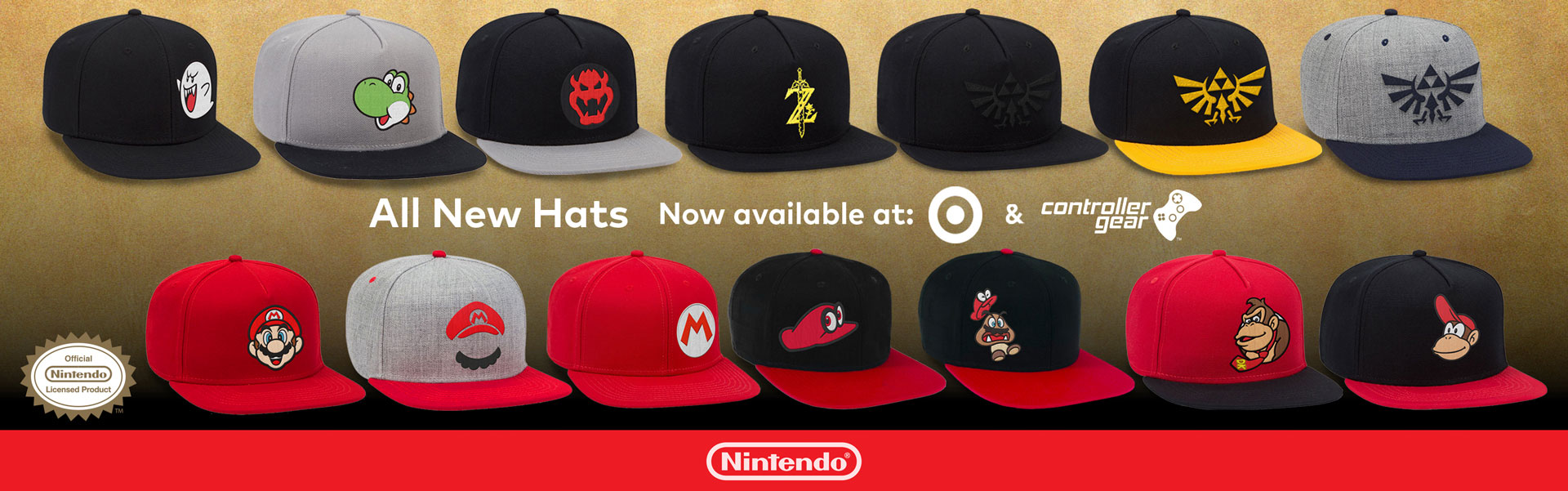 Hats by Controller Gear Licensed by Nintendo at Target