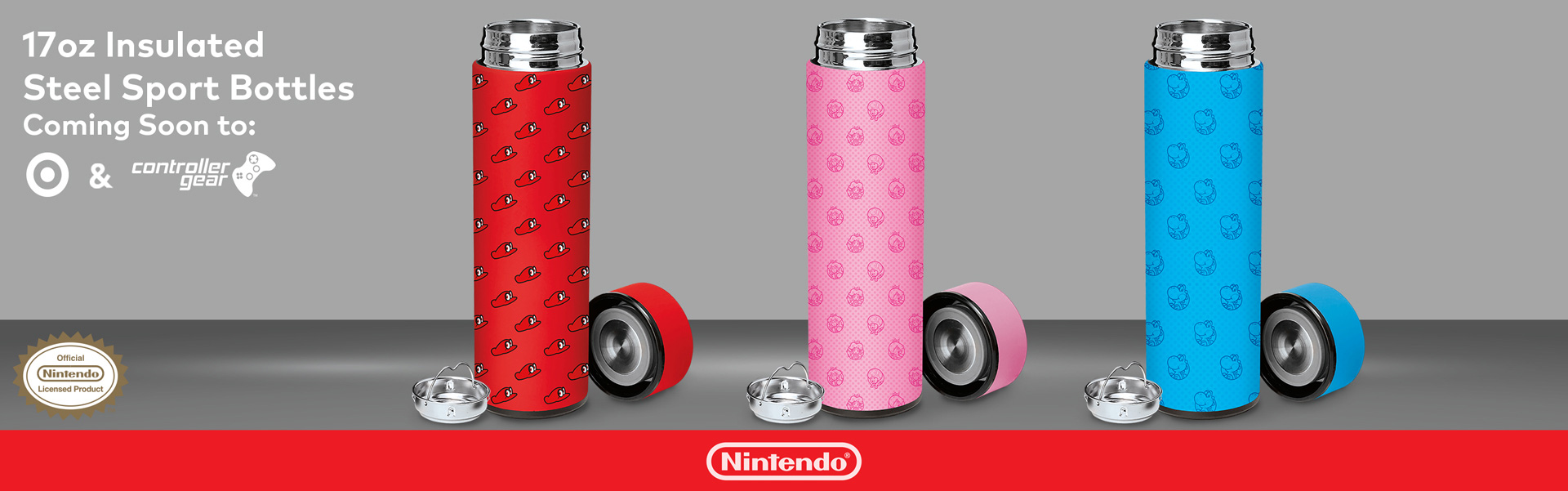 Insulated Steel Bottles by Controller Gear Licensed by Nintendo at Target