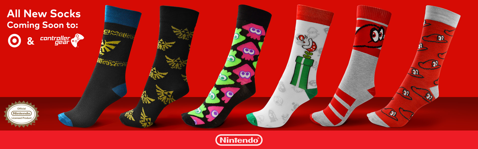 Knit Socks by Controller Gear Licensed by Nintendo at Target