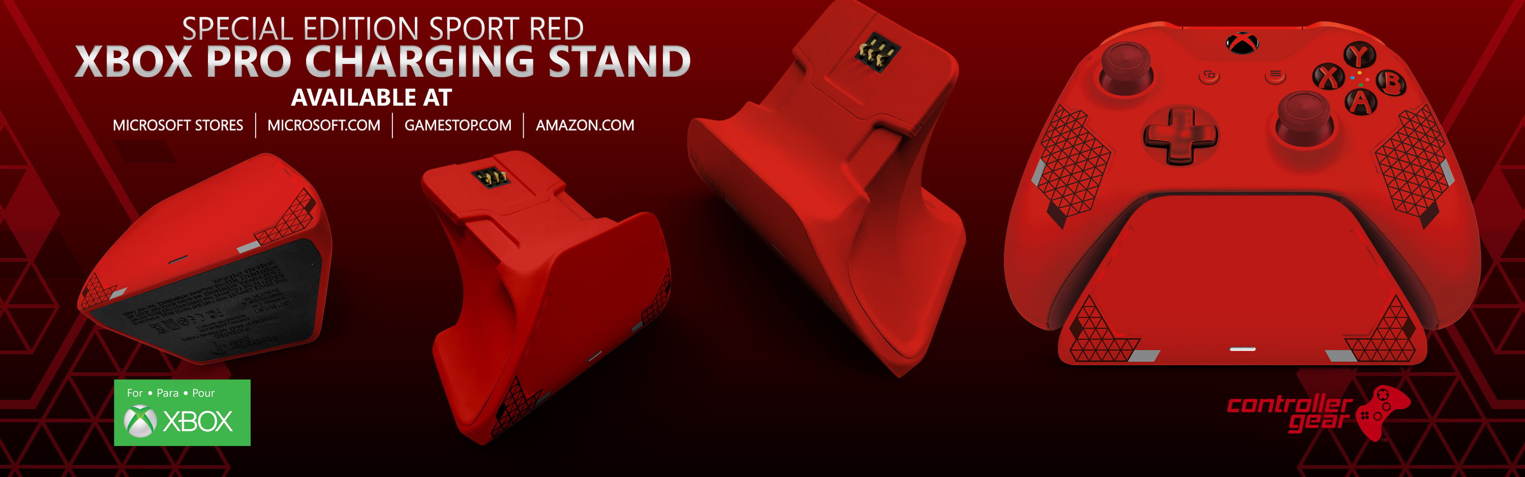 Sport Red Xbox Pro Charging Stand - Pre-Order Now!