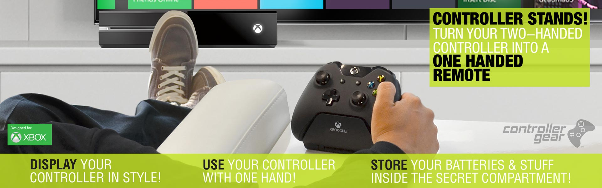 Controller Gear Controller stands turn your two handed controller into a one handed remote Xbox official products