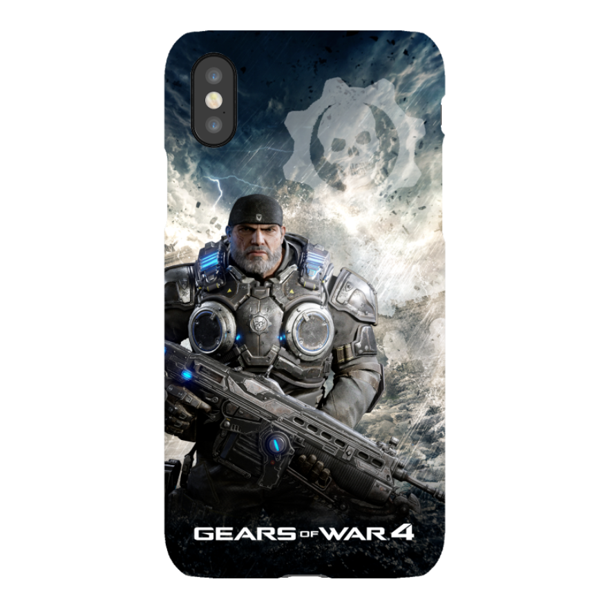 iPhone X Snap Case Gloss: Gears of War 4 Marcus Armored