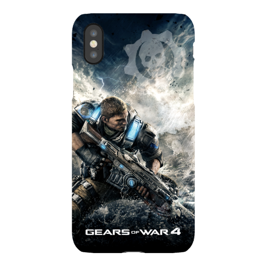 iPhone X Tough Case Matte: Gears of War iPhone X Tough Case Matte: Gears of War 4 Ready for War JD